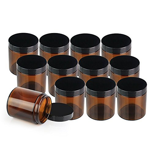 ChefLand Pack Glass Cosmetic Jars
