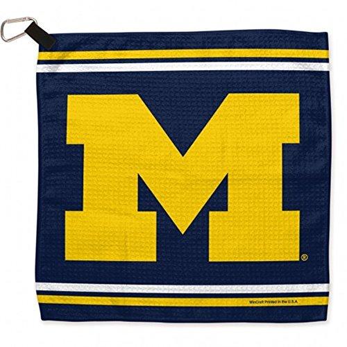 WinCraft NCAA University of Michigan Waffle Towels, 13 x 13, Black ()