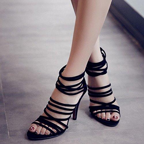 GS~LY Féminines coupe haut talon peep-toe sandales talons
