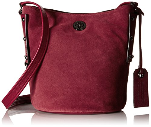 Marc by Marc Jacobs C Lock Suede Bucket Bag, Red Canyon, One Size