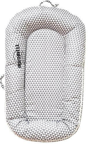 Northwell Baby Lounger, Infant Lounger, Newborn Lounger: Breathable, Hypoallergenic - Perfect for Co-Sleeping, Portable Travel Infant Bed, Crib, Bassinet, or Baby Nest, for 0-8 Months (Lullaby Gray) by Northwell Brand