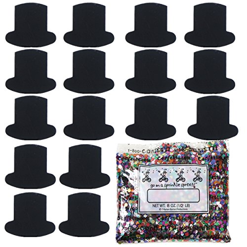 Black Oz Top Hat (Confetti Top Hat Black - One Pound Bag (16 oz) FREE SHIPPING --- (8695))