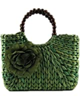 Catkit Sweet Womens Summer Holiday Beach Beaded Rosette Tote Handbag Girls Shoulder Bag