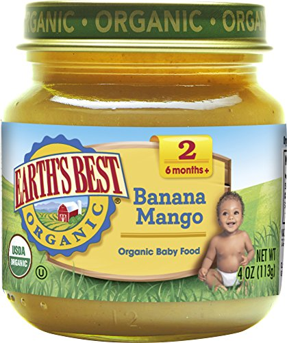 Earth's Best Organic Stage 2 Baby Food, Banana Mango, 4 oz. Jar ()