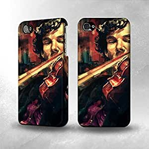 Apple iPhone 4 / 4S Case - The Best 3D Full Wrap iPhone Case - Violin Art Paint