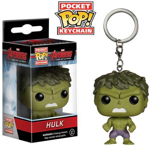 Funko Pop!-Los Vengadores Pocket Keychain: Marvel: Avengers AOU: Hulk (5226)