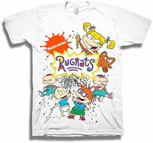 1c891894 Nickelodeon Mens 90's Classic Shirt - Rugrats, Invader Zim, Ren & Stimpy,  and