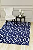 Cheap 3355 Navy Moroccan Trellis 5'2×7'2 Area Rug Carpet Large New