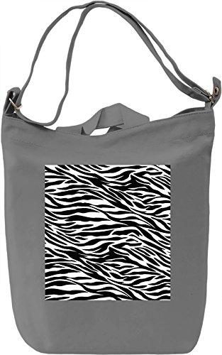 Zebra Print Borsa Giornaliera Canvas Canvas Day Bag| 100% Premium Cotton Canvas| DTG Printing|