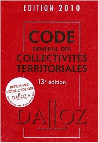Download Online Code général des collectivités territoriales 2010 pdf, epub ebook