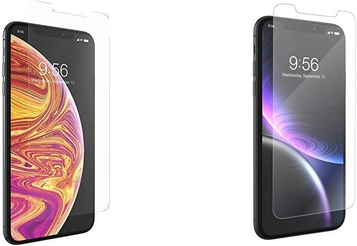ZAGG InvisibleShield Glass+ Screen Protector for Apple iPhone 11 Pro Max and Xs MAX & InvisibleShield Glass+ Screen Protector for The Apple iPhone 11 and iPhone Xr