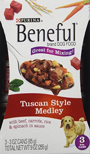 Purina beneful tuscan style medley canned dog food 8 pack for Purina tropical fish food