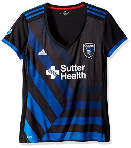 MLS San Jose Earthquakes Women's Replica S/Wordmark Jersey, X-Large, - Black Jose