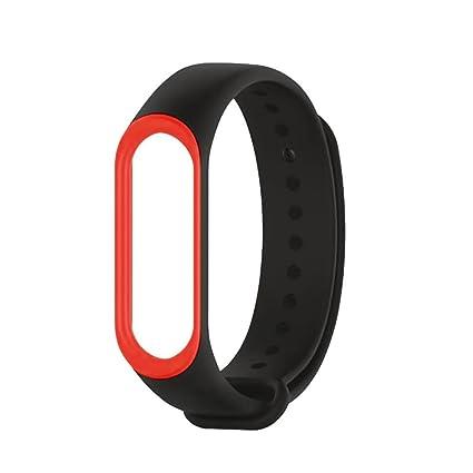 Xiaomi Band 3 Original, Zolimx Suave de Silicona Deporte Reloj Banda Correa de Reemplazo Pulsera para Xiaomi Mi Band 3 Smartwatch (26x1.8x0.5 cm, ...