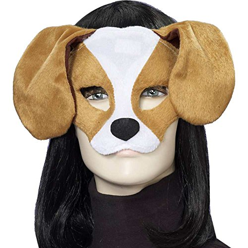 Puppy Costume For Adults (Forum Novelties Plush Dog Mask, Brown/White, One)