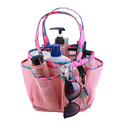 Topfox 8 Pocket Bath Organizer Pink