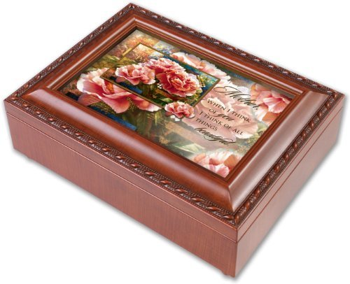 Cottage Garden Mother Tranquility Music Box- Song: You Light Up My Life