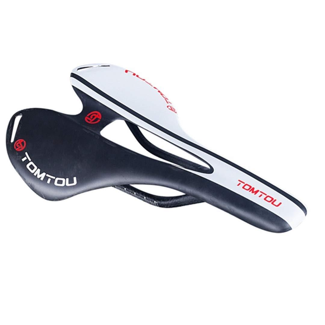 A-Tonershz 自転車サドル フルカーボンサドル ホワイト マット 光沢 カーボンファイバーレール付き ロード/マウンテンバイクパーツ  UD Matte White B07KD2PCVN