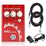 #2: TC Helicon Mic Mechanic 2 Vocal Effects Processor Bundle with (2) 20' XLR Cables and 9V Power Supply