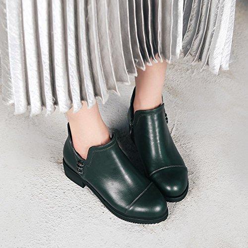 Charm Foot Womens Comfort Tacco Basso Cerniera Autunno Inverno Stivaletti Verde