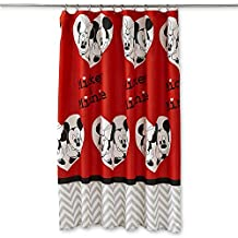"""Disney Mickey and Minnie Luv You More 70"""" x 72""""  Fabric Shower Curtain"""