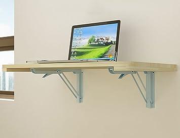 Mural table informatique erru table de repas pliante en bois massif