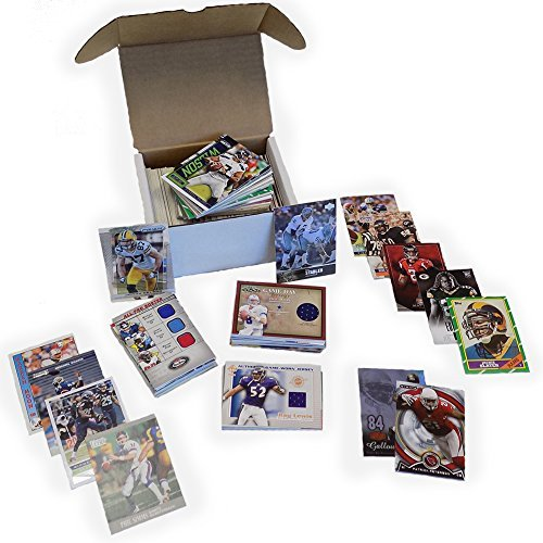 NFL Football Card Relic Jersey Autograph Hit Box w/ 300+ Cards & 3 Relic Autograph or Jersey Cards Per (Relic Football)