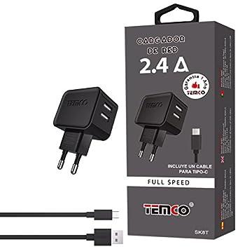 Temco SK8T - Adaptador con cargador de red u5V2.4a y cable ...