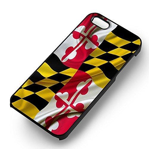 Unique Maryland Flag pour Coque Iphone 5 or Coque Iphone 5S or Coque Iphone 5SE Case (Noir Boîtier en plastique dur) M1M3CX