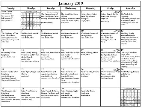 Roman Calendar 2019 Amazon.: Liturgical Calendar 2019, Roman Catholic : Office