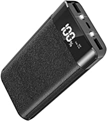 大容量 20000mah モバイルバッテリー 急速充電対応 2USB出力ポート LCDディスプレー iPhone/iPad/Android各種他対応 災害、ビジネス、アウトドア活動、旅行や出 張などに最適