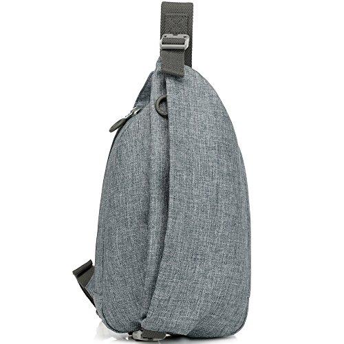 Mono Sling Backpack (YESO Oxford Outdoor Sling Bag - Crossbody Chest Pack For Men Women - Travel Sling Shoulder Backpack)