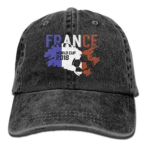 Men Women France Soccer Jersey 2018 World Cup Adjustable Vintage Baseball Caps Washed Cowboy Dyed Denim Hat Unisex