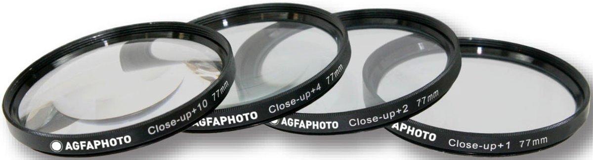 AGFA 77mm 4-Piece Close Up Macro Filter Kit +1 +2 +4 +10 with Pouch For The Nikon D5300, D5000, D3000, D3200, D5100, D5200, D3100, D7000, D7100, D4, D800, D800E, D600, D610, D40, D40x, D50, D60, D80, D90, D100, D200, D300, D3, D3S, D700, Digital SLR Camer
