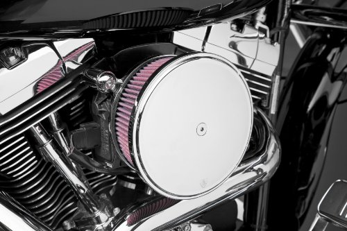 Arlen Ness 18-819 Chrome Big Sucker Stage II Air Filter Kit with Cover