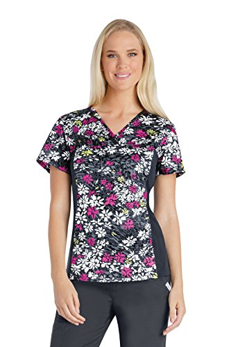 Cherokee Womens Daisy - Cherokee Those Were The Daisies V-Neck Knit Panel Top