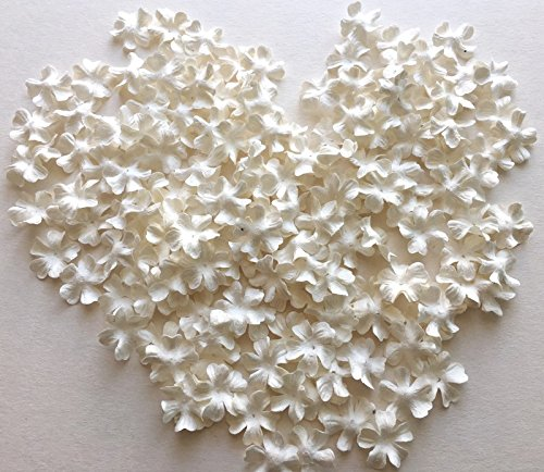 ICRAFY 150 Die cut Petal Flower Mulberry paper White , Pastel Tone , Rainbow Tone 150 Pcs. Size 20 mm. (White)