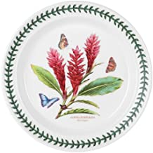 Portmeirion Exotic Botanic Garden Dinner Plate with Red Ginger Motif, Individual Plate