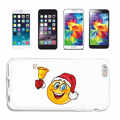 "cas de téléphone Samsung Galaxy S5 ""SMILEY AS SANTA CLAUS AVEC BELL ""smile EMOTICON APP de SMILEYS SMILIES ANDROID IPHONE EMOTICONS IOS"" Hard Case Cover Téléphone Covers Smart Cover pour Samsung Galax"