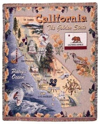 (Simply Home State of California Tapestry Throw Blanket 50