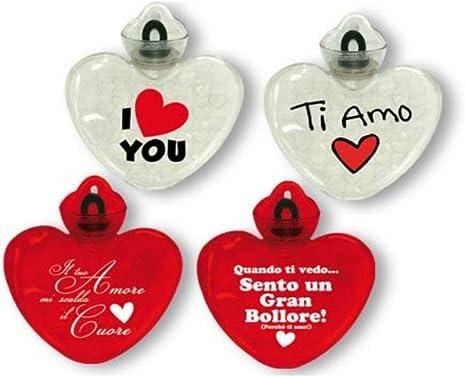 Borsa Dell Acqua Calda Forma Cuore Con Scritta Idea Regalo Per San Valentino I Love You Amazon It Salute E Cura Della Persona
