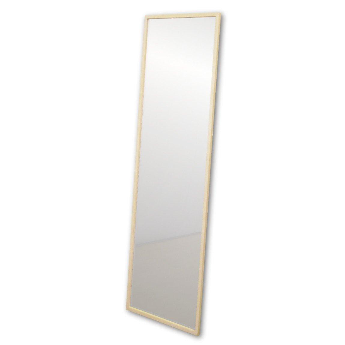 NaturalHouse 日本製 ミラー 鏡 アンティーク ウォールミラー 木製 フレーム ( 幅 43.6 cm 奥行 2 cm 高さ 148 cm ) 飛散防止 (Wh ホワイト) B074V4S9V7Wh ホワイト