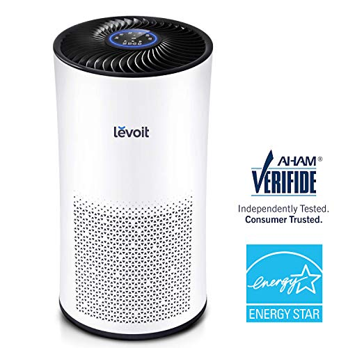 LEVOIT Air Purifier for Home Large Room with True HEPA Filter, Air Filter for Allergies and Pets, Smokers, Mold, Pollen, Dust, Quiet Odor Eliminators for Bedroom,Aham and Energy Star Verified,LV-H133 (Best Air Ionizer For Allergies)