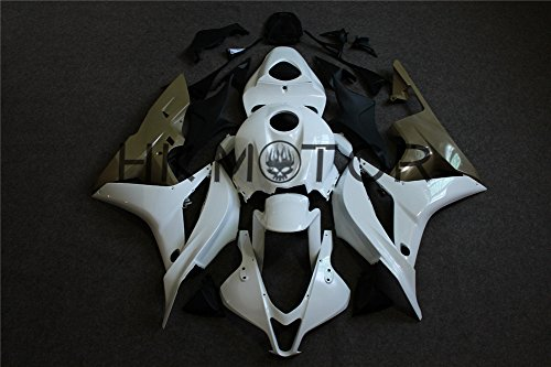 HTTMT K0603 Glossy Black Injection ABS Fairing Kit Bodywork Fit Compatible with Ninja 636 ZX6R 2003-2004