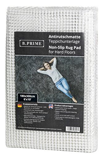 B.PRIME 6x10-Feet Non-Slip Rug Underlay Pad for Hard Floors. Different Size Options Available