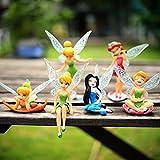 iDream 6 Pcs Tinker Bell Cartoon Fairy Princess Doll Action Figures For Kids
