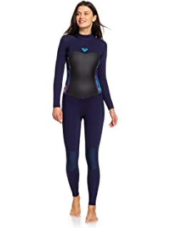 Roxy Womens Syncro 5 4 3MM Back Zip Wetsuit Blue Ribbon - Lightweight Easy f40135042