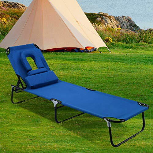 Stark Item Patio Foldable Chaise Lounge Chair Bed Outdoor Beach Camping Recliner Pool Yard (Beach Umbrella Store Near Me)