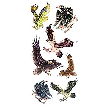 Oottati Tatuajes Temporales Sexy Águila (2 hojas): Amazon.es: Belleza