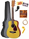 Yamaha JR1 3/4-Scale Mini Folk Acoustic Guitar Bundle with Gig Bag, Tuner, Instructional DVD, Strings, Pick Card, and Polishing Cloth